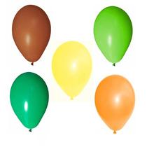 250 Balões Art-latex N9 - Bexiga Para Decorar Festa Safari
