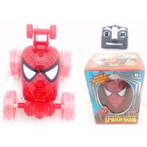 Carrinho Homem Aranha Com Controle Remoto Led Som Spider Man