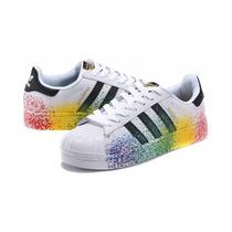 130807fe0 adidas Pride Pack Superstar Respingo De Tinta Colorido 8% à venda em ...