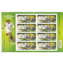 Folha Completa Selo 100 Anos Seleção Brasileira De Futebol !