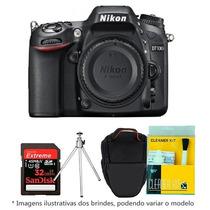 Câmera Nikon D7100 Corpo+bolsa+tripé+32gb C/10+kit Limpeza