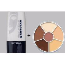 Kryolan Diluidor Make Up Blend + Paleta 6 Cores Circulo Usa