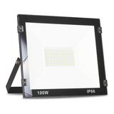 Refletor Led 100w Branco Frio Holofote Bivolt Prova D'água