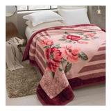Cobertor Jolitex Ternille Tradicional Casal Rosa Rozen