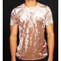 Camisetas Masculinas Veludo Molhado Rosê Brilhoso
