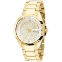 Relógio Technos 203aaa/4k 203aaa 4k Dourado Ouro Swarovski