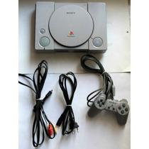 Playstation Ps1 Fat+ Controle Original+memory Card E 5 Jogos