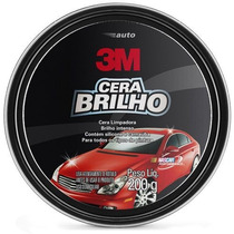 Auto Cera Brilho Com Silicone E Carnaúba Lata 200g ( 3m )