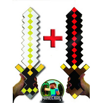 Kit Espadas Guardian Sword E Big Bertha Minecraft Original