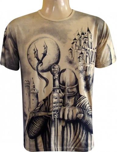 a6e3b7232 Kit Com 10 Camisetas Indianas São Jorge Em Silk Screen.
