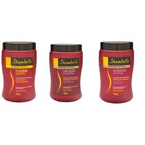 Super Kit Hidratação Capilar Profissional Shambelle 3 X 1 Kg
