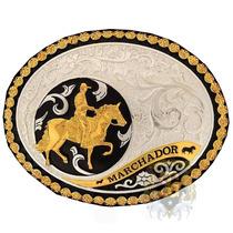 Fivela Mangalarga Marchador Banho Dourado - Sumetal 4781