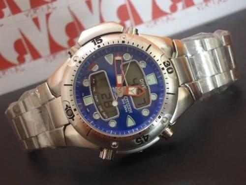 c3c7552b497 Relogio Atlantis Aqualand Modelo Jp1060 Azul Aço  citzen