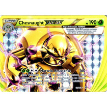 Carta Pokemon Chesnaught Turbo Break Turbo Revolução 12/162