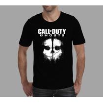 Camiseta Call Of Duty Ghosts Games E Jogos.