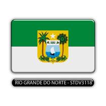 Adesivo Automotivo Bandeira Estado Rio Grande Norte Resinado