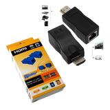 Extensor Conversor Hdmi 4k Rede Rj45 Projetor Tv Notebook Pc