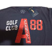 Camiseta Aleatory,nova, Original,marinho- Muito Barato!