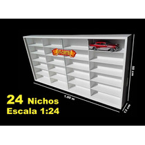 Estante Expositor (24 Nichos 1;24) Hot Wheels Box  Miniatura
