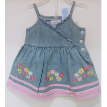 Vestido Jeans Importado Infantil Com Calcinha Tapa Fralda