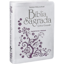 Bíblia Feminina Branca Letra Grande Ra Pronta Entrega!!!