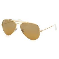 Óculos De Sol Ray Ban Outdoorsman Ii Rainbow Rb3407 001/3k