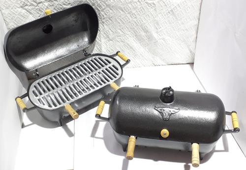 Churrasqueira Alumínio Bafo C/pintura Craqueada+garfo Brinde