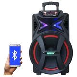 Caixa Som Bluetooth Amplificada 500w Portátil Led Falante 15