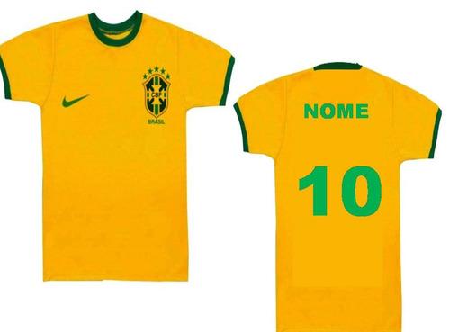 Camisa Camista Infantil Personalizado Com Nome Copa Brasil - R  19 ... 217dd32a07b38