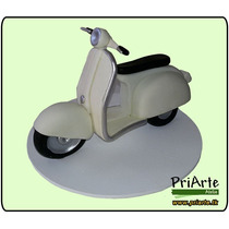 Miniatura Artesanal Moto Vespa Lambreta Vintage - Biscuit
