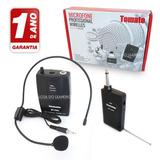 Microfone Lapela Sem Fio Headset Profissional 30-50 Mts + Nf
