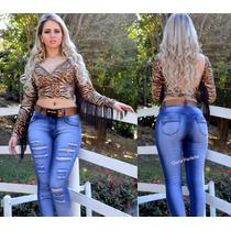 Calça Set Jeans Levanta E Modela O Bumbum!!!