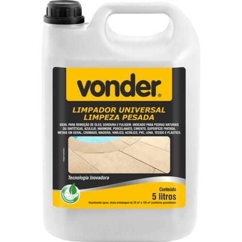 Limpador Universal Limpeza Pesada 5 Litros - Vonder