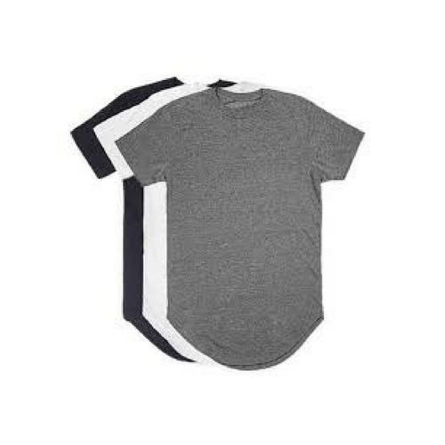 Kit C 3 Un Camisas Blusas Masculinas Longline Oversize Swag bc5e6c32e0ae2