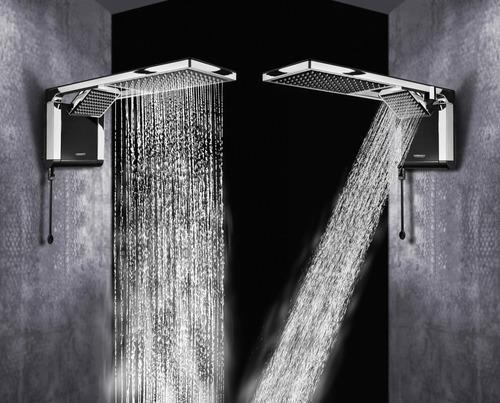 Ducha Lorenzetti Acqua Duo Ultra Preta / Cromada 220v 7800w