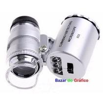 Conta-fios Lupa 60x (mini-microscópio) + Leds + Case