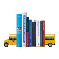 Suporte Aparador De Livros Dvd Cd School Bus Ônibus Escolar