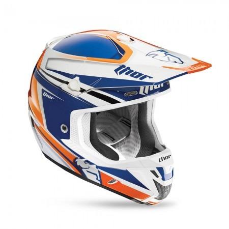 Capacete Motocross Thor Verge Flex Azul / laranja - 56 P