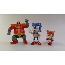 Kit Coleção Bonecos Sonic, Dr.robotnik E Tails Pvc Raridade