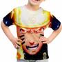 Camiseta Infantil Naruto Shippuuden E Sasuke Mangá