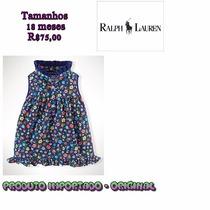 Vestido Menina Importadao Original Ralph Lauren