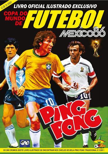 Álbum Digitalizado Copa Do Mundo 1986 Ping Pong + 2 Álbuns 812e46d77074f