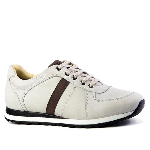 e07defc0280 Sapatênis Masculino 4061 Em Couro Neve brown Doctor Shoes