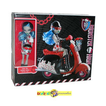 Monster High Ghoulia Yelps Scooter Original Mattel 2011