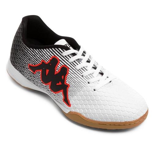 Chuteira Tenis Futsal Kappa Branca b9ca58719fc3b