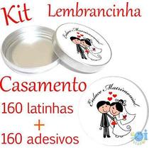 Kit Lembrancinha De Casamento Latinha+etiqueta Melhor Preço