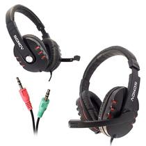 Fone De Ouvido Earphone Headset Gamer P2 Scncy Aq-9800 Novo