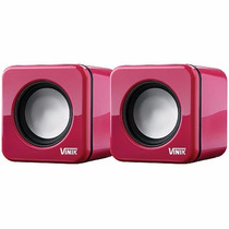 Caixa De Som 2.0 Usb 6w Rms (2x 3w) Vs-101 Pink - Vinik