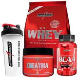 Kit Whey Protein + Bcaa + Creatina + Coquet. Integralmédica