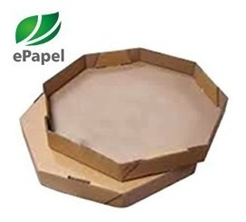 400 Fls Papel Manteiga 40cm Octogonal Forrar Caixa De Pizza